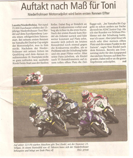 Moto GP , Sachsenring , Lausitzring, Toni Riedel
