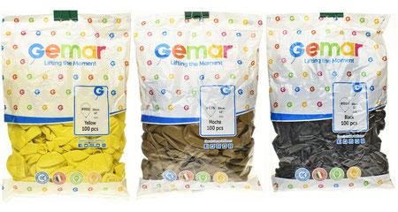 """Воздушные шары Gemar в пачках, размер 12"""", пастель"""