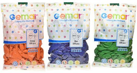"""Воздушные шары Gemar в пачках, размер 10"""", пастель"""