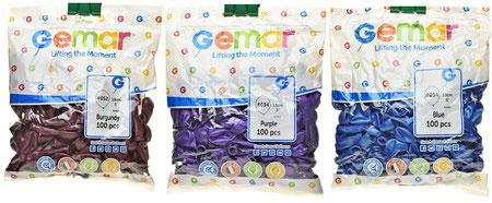 """Воздушные шары Gemar в пачках, размер 5"""", металлик"""