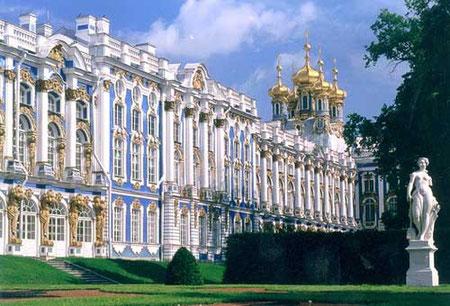 Екатерининский дворец в Царском селе.