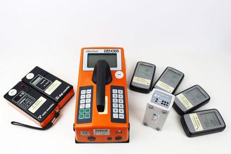 Unsere Geräte zur Messung von Radioaktivität und Radongas