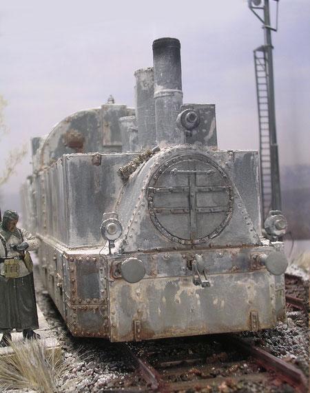 """Das Gesicht der Panzerlok. Man sieht ihr das """"Design"""" der Jahrhundertwende an."""