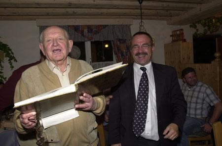 Ali Gogg und Heinz Brunner beim Treffen 2002 in der Südsteiermark
