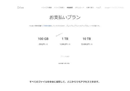 おすすめストレージサービスのgoogleドライブ