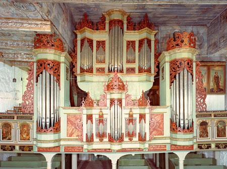 Der Prospekt der Wilde-Schnitger Orgel