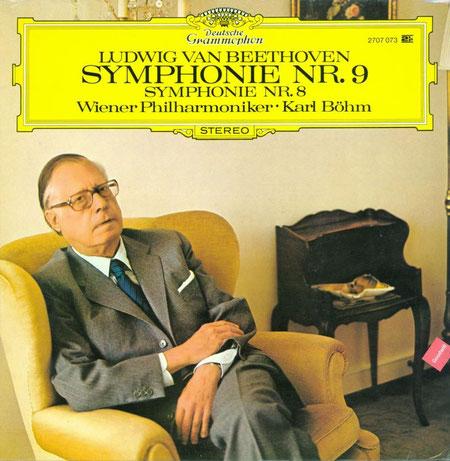 Copertina del doppio LP contenente le Sinfonie n. 8 e n. 9 di Beethoven incise da Bohm ai primi anni '70 - ristampate in cd ma da qualche anno fuori catalogo inspiegabilmente