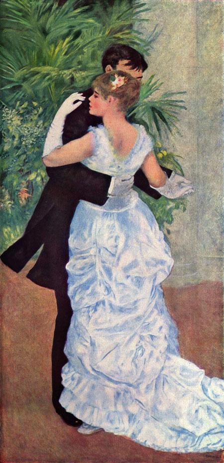 オーギュスト・ルノワール《都会の踊り》1883年