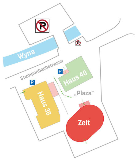 Lageplan Korpszentrum Reinach