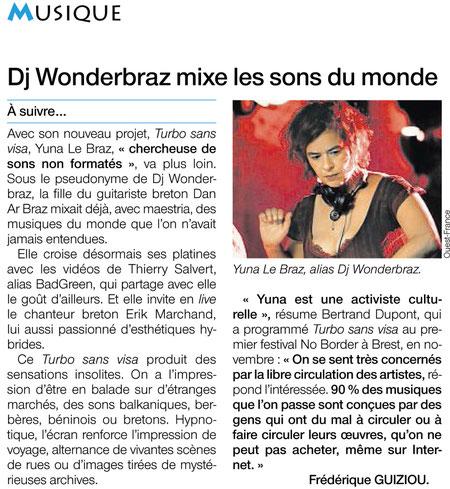 Ouest France / toute édition / 30 décembre 2011 - Frédérique Guiziou
