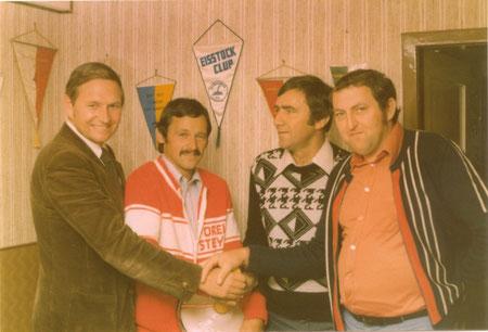 v.l. Helmut Kessel, Franz Kaiser, Horst Pilzweger und Hermann Vogl