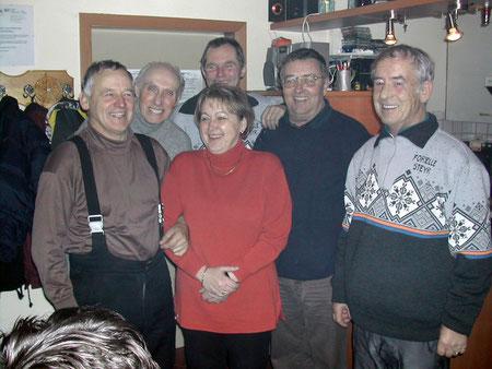 v.l. Franz Kaiser, Rudolf Brunnmayr, Elfi Siller, Alois Obermair, Max Bloderer und Josef Mühleder