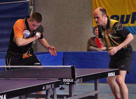 Richard und Andreas im Doppel-Halbfinale (Foto: Siegfried Wellmann)