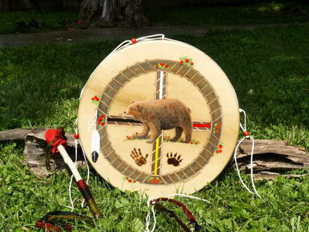 drum paintings by Glenn W. Lewis, exclusively at Shaman Drums and More