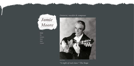Jamie Moore, musician's website, created 2013, click to visit site