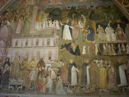 Detalle pared derecha de la actividad de los dominicos