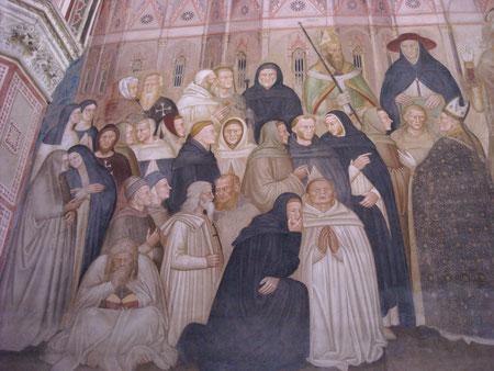 Detalle de la Iglesia militante y actividad de los dominicos