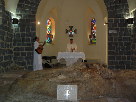 Orillas del Mar de Galilea.Mensa Christi
