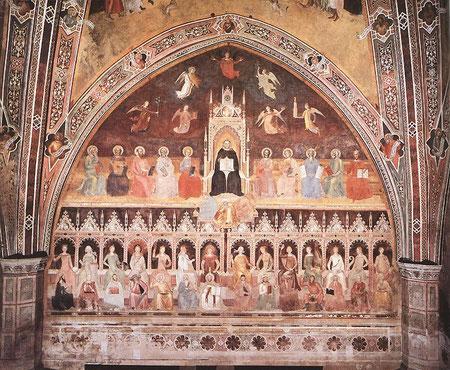 Triunfo de la doctrina católica y Santo Tomás de Aquino con las artes liberales