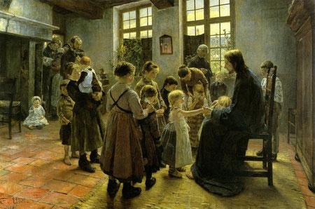 """""""Dejad que los niños se acerquen a Dios""""Fritz Von Uhde,1848-1911,Leipzig"""