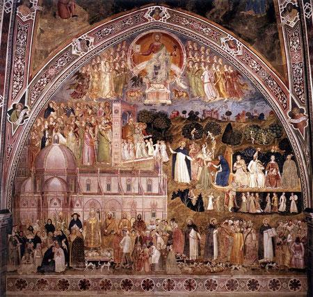 Camino al cielo,Iglesia militante e Iglesia Triunfante, actividad de los dominicos