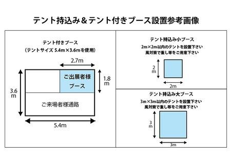 糸島ハンドメイドカーニバルブース設置参考画像