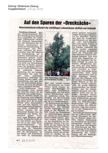 Naturschutz-Erlebnistag 15. Mai 2011 - Exkursion zum FFH-Gebiet Übungsplatz Ockstadt