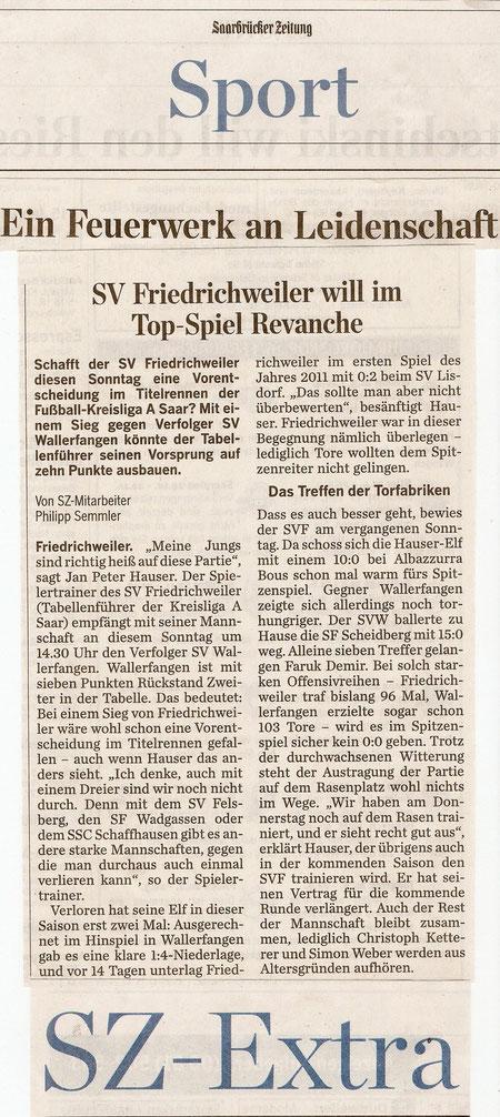 Saarbrücker Zeitung Samstag 26.Febr. 2011