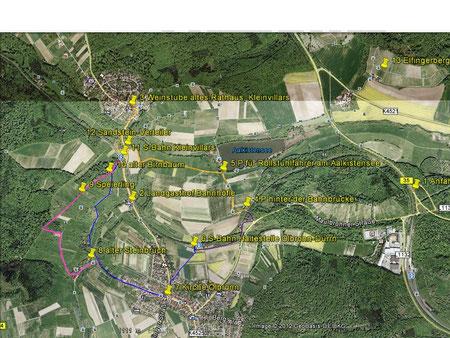 Rundwanderweg Aalkistensee, leichter Wanderweg für die ganze Familie, zur Vergrößerung klicken Sie auf das Bild