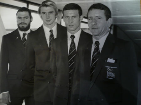 1980 Moscow: Great Britain's team -Nightingale, Clark, Kenealy, Whiteside