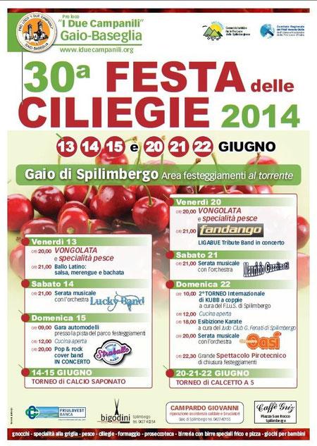 30° FESTA delle CILIEGIE 2014 - Gaio di Spilimbergo (PN)