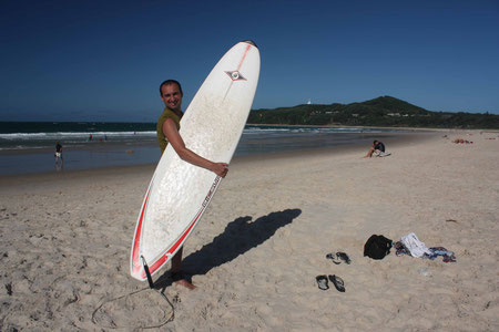 André nach dem Surfen