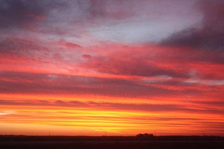 Sonnenuntergang vor Adelaide