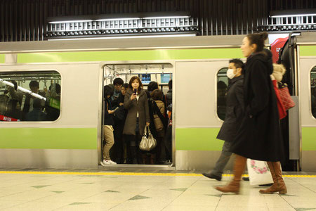Rush Hour in der Tokyoter Metro