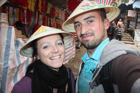 Ein Foto mit dem obligatorischen Hut darf natürlich nicht fehlen