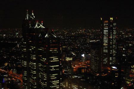Tokyo bei Nacht von oben