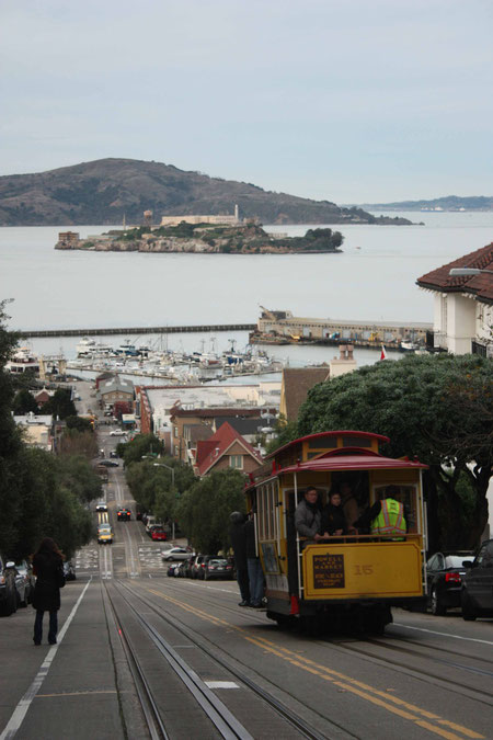 Cablecar mit Alcatraz