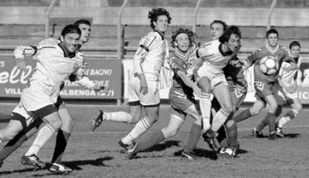 43': Arco insacca alle spalle di De Biasio il gol vittoria