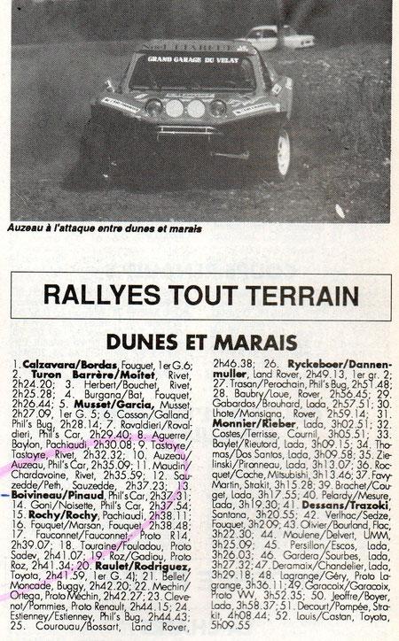1990 - Compte Tours - Dunes & Marais