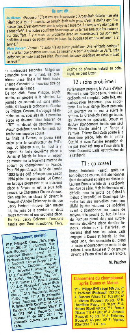 1993 - Tout Terrain Magazine - Dunes & Marais