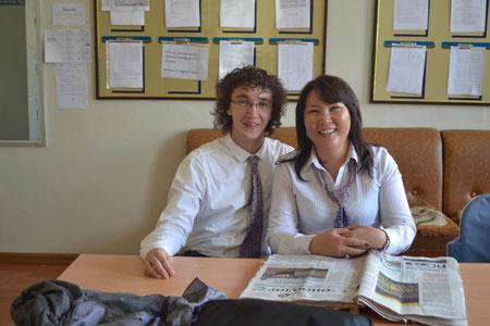 Ein starkes Team: Frau Oyuna Tseren und Herr Sebastian Burkard
