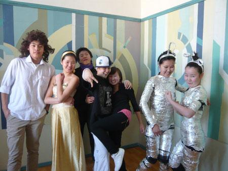 Unsere Theatergruppe: Odi, Pudschae, Bat-Erdene, Ariunaa, Zegi, Enerel, Pudschka  ©Therese Eckhardt