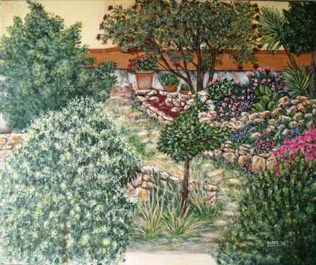 Careddu Marinella - Giardino - acrilico tela - 60 X 50