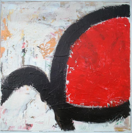 Masini Tiziano - Nodo rosso - olio tela - 50 X 50
