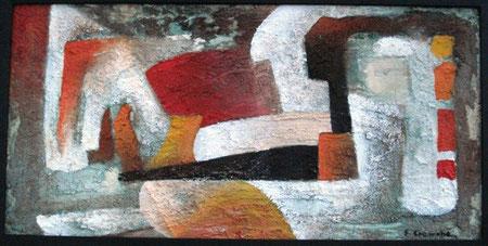 Cremone Enzo - composizione n° 31 - tecnica mista tela - 60 X 30