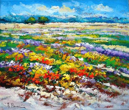 Bonacina Adelio - Paesaggio - olio tela - 70 X 60