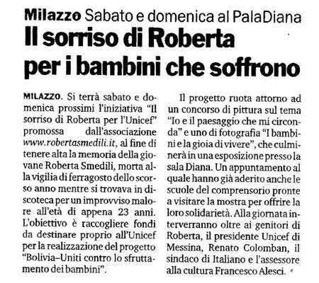 Gazzetta del Sud - 28 Maggio 2009