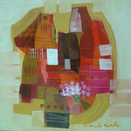 Di Carlo Vittorio Maria - Sari sari - olio tela - 40 X 40