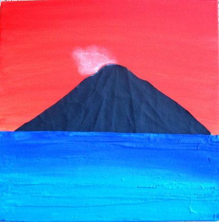 Bartolozzi Giovanni - Strongyle - olio e oilbar su tela - 50 X 50