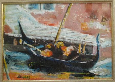 Dumas Burgato Gabriella - Gondola a Venezia - olio tela - 35 X 25 2012